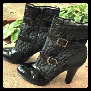 Black Calvin Klein ankle boots